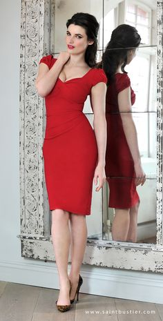 Nigella Dress in Red - as worn by Nigella Lawson. See more dresses for busty…