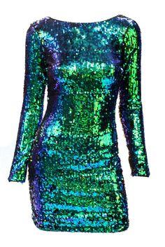 Emerald Sequin Dress