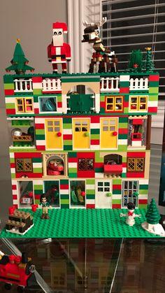 Diy Lego, Lego Craft, Christmas Makes, Kids Christmas, Xmas, Lego For Kids, Diy For Kids, Lego Christmas Village, Lego Challenge