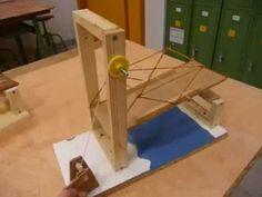 esto es un puente levadizo con accionamiento manual