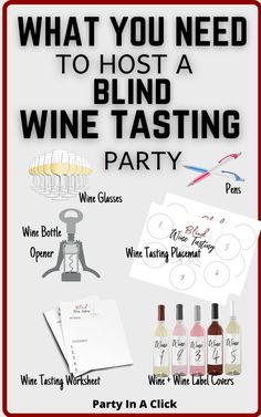 Host your very own blind wine tasting party!This fun blind wine tasting party kit is perfect for a girls night in, bachelorette party, birthday party or simply just a Friday night. Get your gang together and start tasting some wine! Girls Night In Party Ideas |Wine Tasting | How to host a wine tasting party | How to plan a wine tasting party | Blind Wine Party | Wine and Cheese Party Wine And Cheese Party, Wine Tasting Party, Wine Parties, Party Kit, Party Ideas, Bachelorette Party Games, Bridal Shower Party, Drinking Games, Wine Label