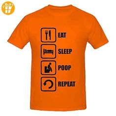 Eat Sleep Poop Repeat Funny Black Graphic Men's T-Shirt XX-Large (*Partner-Link)