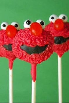 My Elmo Cake Pop Http Www Com Polkadottedcupcake Pinned And Did Cakes