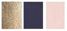 Navy, blush pink & copper instead of gold.
