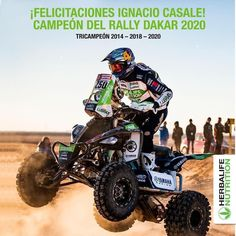 Félicitations @ignacio_casale 3e victoire sur le @dakarrally 🏆🏆🏆 Fuelled by #herbalife . #champion #campeones #sport #power #powerful #rally #dakar #dakar2020 #dakarrally #moto #motocross #motorally #felicitations #congrats #speedboy #victory
