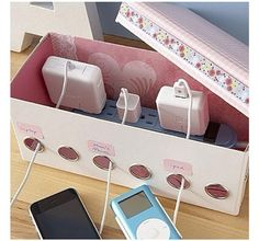 """No more loose cables everywhere! Great storage/organisation idea!"""