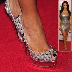 aa3eaa7d76db dangerously chic pair of Christian Louboutin spiked heels! Louboutin Spiked  Heels