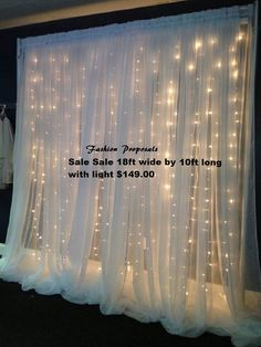 Led Backdrop Lights. Led Backdrops Drapes With Voile Organza Wide By 10 Ft…