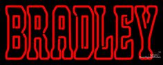Bradley Braves Wordmark  Pres Logo NCAA Real Neon Glass Tube Neon Sign,Affordable and durable,Made in USA,if you want to get it ,please click the visit button or go to my website,you can get everything neon from us. based in CA USA, free shipping and 1 year warranty , 24/7 service