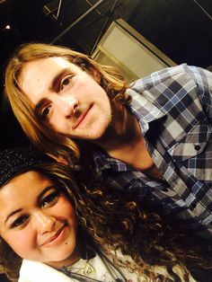 Selfie with Rocky Mark Lynch when I got pranked by R5 11/18/14! Best day of my life!