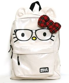 Muffin's New Hello Kitty Nerd Face Ears Backpack ... Swag her out