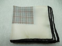 Vintage Men Square Pocket 100/% Silk Hand Made Handkerchiefs 1970 Made in Korea Fathers Day gift Classic Style Suite Pocket Handkerchief