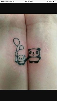 panda tattos cute panda tattoo wrist tattoos tattoos tattoo tattoo ...