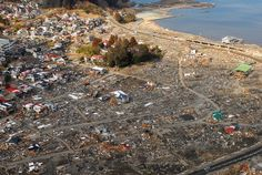Aerial view of damage to Kirikiri, Otsuchi, a week after a 9.0 magnitude earthquake and subsequent tsunami - 東日本大震災 - Wikipedia
