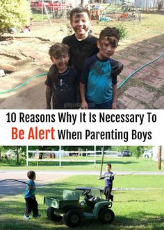 Boys keep parents on their toes! Here are my top 10 reasons why it is necessary to always be alert when parenting boys....do you have any to add? #ad