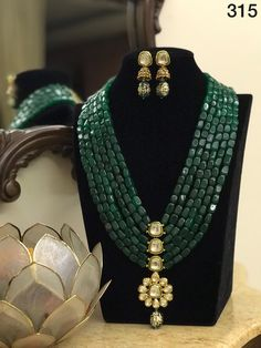 Green Mala Necklace/ Long Indian Necklace/ Indian Jewelry/ Green beads Necklace/ Heavy beads heavy Necklace/ Pakistani Jewelry/ Indian Green Mala Necklace/ Long Indian Necklace/ Indian Jewelry/ Green beads Necklace/ Heavy beads heavy N Indian Jewelry Sets, Indian Wedding Jewelry, Bridal Jewelry, Indian Bridal, Bead Jewellery, Beaded Jewelry, Beaded Necklace, Emerald Necklace, Diamond Earrings
