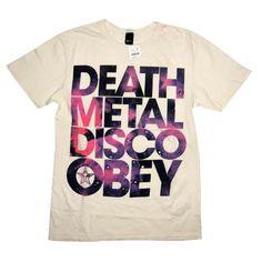 Obey Death Metal Disco Tee  Cream