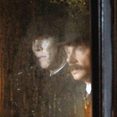 """Sherlock & John in Victorian cab. Setlock February 2, 2015""---- Ohshitt!!!! *I got so excited I literally bit my tongue.. forfucksake..*"