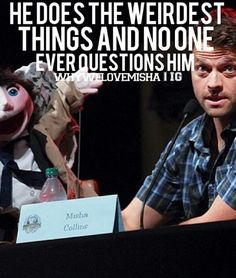 If it were any other celebrity, everyone would be questioning them. But Misha can do whatever he wants and no one ever questions him! Because that's just who he is! (Credit instagram)