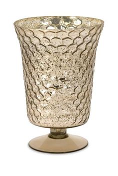 Large Chappin Glass Honeycomb Vase