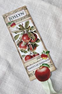 A bookmark for ~ Joslyn, because she decided my tag would make a great bookmark.....but forgot to tell me that is where it was....Liz creates fun, beautiful things!
