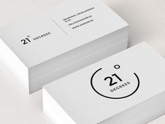 21 Degrees Business Card logo minimal corporate design black white graphic