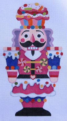 Giant Nutcracker needlepoint canvas, Raymond Crawford?