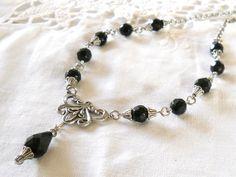 black filigree necklace black necklace short black by minouc