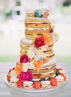 Naked wedding cake | by modwedding