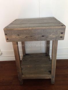 Custom Made Pallet Side Table