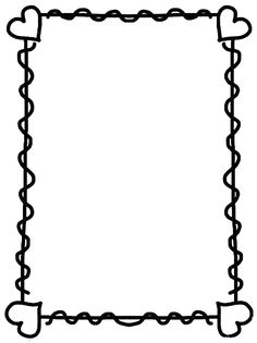 hearts page border Page Borders Design, Border Design, Borders For Paper, Borders And Frames, Web Paint, Notes To Parents, Doodle Frames, Scrapbook Frames, Printable Paper