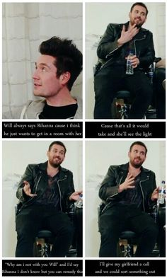 When asked who they would like to collaborate with.  Will is funny :)
