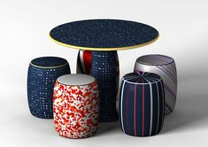 Perfect Mixture Dining Set The Perfect Mixture is a very unique furniture set, featuring select designs from our different product families which were all inspired by the traditional ceramic furniture designs of China. Ceramic Furniture, Ceramic Stool, Asian Furniture, Chinese Furniture, Oriental Furniture, Unique Furniture, Furniture Design, Ceramic Table, Chinese Interior