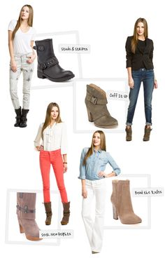 Pairing boots with denim
