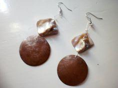 brown dangle earrings by katerinaki106 on Etsy, $10.00 Dangle Earrings, Dangles, Spring, Brown, Summer, Etsy, Jewelry, Jewellery Making, Jewerly