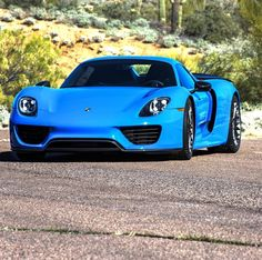 Porsche 918 Spider painted in Voodoo Blue   Photo taken by: @iamryanhardwick on Instagram (He is also the owner of the car)