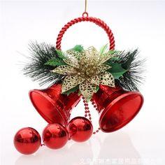 Рождественский колокольчик колокольчики рождественские украшения Belle 2 PCS = 1LOT