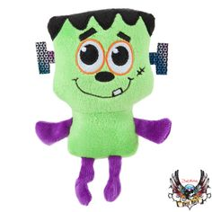 Too cute to scare! Toss in some Halloween fun with the Bret Michaels Pets Rock™ Frankenstein Dog Toy - PetSmart $4.79