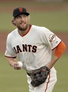 Hunter Pence during game three of the World Series at AT&T Park in San Francisco,