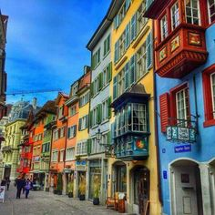 Augustinergasse,one of Zürich's most beautiful historical narrow street.
