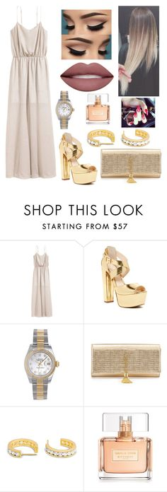 """Untitled #2702"" by outfitstowear ❤ liked on Polyvore featuring H&M, Jessica Simpson, Rolex, Yves Saint Laurent and Givenchy"
