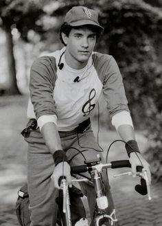 Tom Hanks rides a bike, musically.