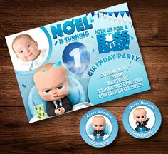 30 Best Of Boss Baby Birthday Invitation Template Photography - At a time when e-invites are ruling the roost, Indian wedding invitation cards still cling Birthday Party Images, Baby Birthday Themes, Boss Birthday, Baby Boy 1st Birthday, Birthday Card Design, 1st Birthday Parties, 1st Birthdays, Birthday Decorations, Birthday Ideas