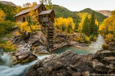 Crystal Mill Colorado - Abandoned, but beautiful because of Colorado's gorgeous autumn