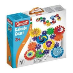 Create a wonder by spinning the Gears! Fun Kaleido Gears is a 55 piece set with interlocking plates and decorated meshing gears. The set includes gears in three sizes and a handle. Gadgets And Gizmos, Building Toys, Educational Toys, Gift Guide, Gears, Otaku, Christmas Gifts, Christmas Ideas, Christmas Shopping