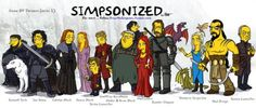 Game Of Thrones Characters Simpsonized
