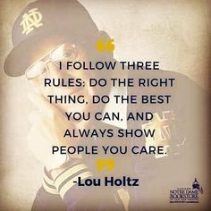 35 ideas for sport quotes love truths The Words, Cool Words, Notre Dame Football, Great Quotes, Quotes To Live By, Awesome Quotes, Wise Quotes, Noter Dame, Emergency Room