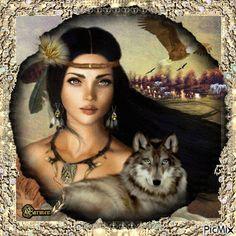 Native American Totem, Native American Spirituality, Native American Paintings, Native American Wisdom, American Indian Girl, Native American Girls, Native American Pictures, Native American Beauty, Art Indien