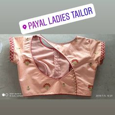 Simple blouse design - The handmade craft Blouse Back Neck Designs, New Saree Blouse Designs, Simple Blouse Designs, Stylish Blouse Design, Bridal Blouse Designs, Choli Designs, Mehandi Designs, Blouse Designs Catalogue, Sari Design