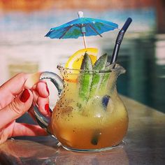 Cool by the pool, soaking up some tropical goodness :: peranakan swizzle #bali #houseofhuu #cocktail #huubar